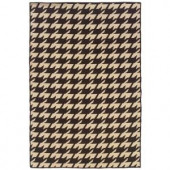 Linon Home Decor Salonika Houndstooth Brown 5 ft. x 8 ft. Area Rug