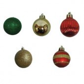 35 mm Red, Gold and Green Mini-Ornament (Set of 20)