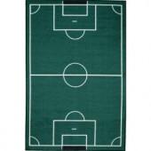 LA Rug Inc. Fun Time Soccerfield Multi Colored 39 in. x 58 in. Area Rug