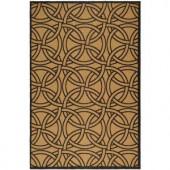 Martha Stewart Living Links Gold/Black 5 ft. 3 in. x 7 ft. 7 in. Indoor / Outdoor Area Rug
