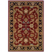 LR Resources Traditional Red and Black Runner 1 ft. 10 in. x 7 ft. 1 in. Plush Indoor Area Rug