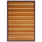 Anji Mountain Premier Brown and Light Brown Striped 6 ft. x 9 ft. Bamboo Area Rug