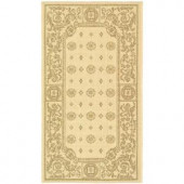 Safavieh Courtyard Natural/Brown 2 ft. x 3.6 ft. Area Rug