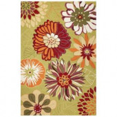 Kas Rugs Spring Fever Pistachio 3 ft. 3 in. x 5 ft. 3 in. Area Rug