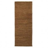 Home Decorators Collection Chainstitch Dark Natural 3 ft. x 12 ft. Runner