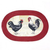 Rooster 20 in. x 30 in. Braided Rug