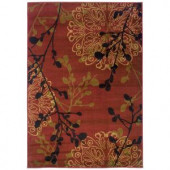 Legacy Dappled Red 10 ft. x 13 ft. Area Rug