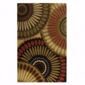 Home Decorators Collection Harmony Bronze Green and Mushroom 3 ft. 6 in. x 5 ft. 6 in. Area Rug
