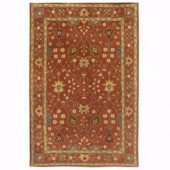 Home Decorators Collection Dijon Terracotta 5 ft. 3 in. x 8 ft. 3 in. Area Rug