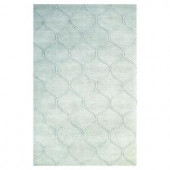 Kas Rugs Simple Scallop Frost 5 ft. x 8 ft. Area Rug