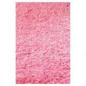 Kas Rugs Cushy Shag Hot Pink 3 ft. 3 in. x 5 ft. 3 in. Area Rug