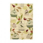 Home Decorators Collection Aviary Ivory 9 ft. x 12 ft. Area Rug