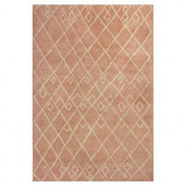 Kas Rugs Artsy Moroccan Coral/Cream 7 ft. 9 in. x 9 ft. 9 in. Area Rug