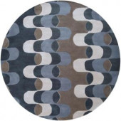 Artistic Weavers Gridley Gray Blue 6 ft. Round Area Rug