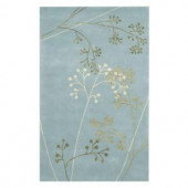 Home Decorators Collection Sakura Light Blue 2 ft. x 3 ft. Accent Rug
