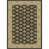 Serendipity Black 3 ft. 9 in. x 5 ft. 2 in. Area Rug