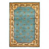 Kas Rugs Antique Fleur-De-Lis Wedgewood Blue 2 ft. 6 in. x 4 ft. 2 in. Area Rug