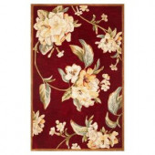 Kas Rugs Floral Perfection Ruby 3 ft. 6 in. x 5 ft. 6 in. Area Rug