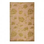 Home Decorators Collection Trellis Sage 3 ft. 9 in. x 5 ft. 8 in. Area Rug