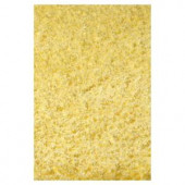 Kas Rugs Cushy Shag Yellow 2 ft. 3 in. x 3 ft. 9 in. Area Rug