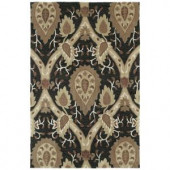 Kaleen Crowne Oberon Charcoal 2 ft. x 3 ft. Area Rug