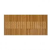 Anji Mountain Light Brown 20 in. x 72 in. Bamboo Kitchen and Bath Mat