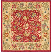 Safavieh Chelsea Red/Ivory 8 ft. x 8 ft. Square Area Rug