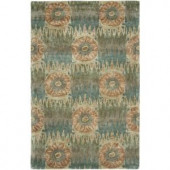 LR Resources Indulgence Blue 7 ft. 9 in. x 9 ft. 9 in. Extremely Plush Indoor Area Rug