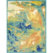 Loloi Rugs Lyon Lifestyle Collection Tropical Island 3 ft. 9 in. x 5 ft. 2 in. Area Rug
