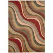Nourison Rug Boutique Fluid Stripes Multicolor 5 ft. 6 in. x 7 ft. 5 in. Area Rug