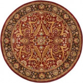 Pallat Red 8 ft. Round Area Rug
