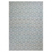 Kas Rugs Natural Damask Slate/Ivory 3 ft. 6 in. x 5 ft. 6 in. Area Rug