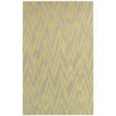 LR Resources Dazzle Grey/Gold 5 ft. x 7 ft. 9 in. Plush Indoor Area Rug