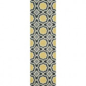 Loloi Rugs Weston Lifestyle Collection Charcoal Gold 2 ft. 3 in. x 7 ft. 6 in. Runner