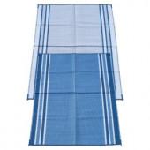 Fireside Patio Mats Hawaiian Blue 6 ft. x 9 ft. Polypropylene Indoor/Outdoor Reversible Patio/RV Mat