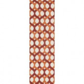 Loloi Rugs Weston Lifestyle Collection Red Orange 2 ft. 3 in. x 7 ft. 6 in. Runner