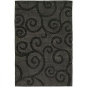 Chandra Pernille Charcoal/Taupe 5 ft. x 7 ft. 6 in. Indoor Area Rug