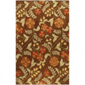 BASHIAN Chelsea Collection Red Patches Chocolate 8 ft. 6 in. x 11 ft. 6 in. Area Rug