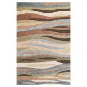 Kas Rugs Tidal Sands Green 3 ft. 3 in. x 5 ft. 3 in. Area Rug