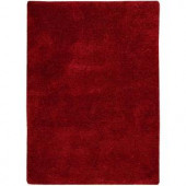 Nourison Overstock Modern Groove Red 5 ft. x 7 ft. Area Rug