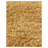Kas Rugs Cushy Shag Gold 3 ft. 3 in. x 5 ft. 3 in. Area Rug