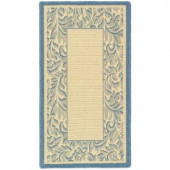 Safavieh Courtyard Natural/Blue 2 ft. x 3.6 ft. Area Rug