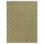 Kas Rugs Chateau Green/Beige 3 ft. 3 in. x 5 ft. 3 in. Area Rug