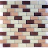 EPOCH Desertz Tabernas Mosaic Glass Mesh Mounted Tile - 4 in. x 4 in. Tile Sample