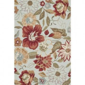 Loloi Rugs Summerton Life Style Collection Mist Red 7 ft. 6 in. x 9 ft. 6 in. Area Rug