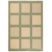 Home Decorators Collection Summit Natural and Green 8 ft. 6 in. x 13 ft. Area Rug