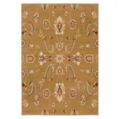 LR Resources Timeless Traditional Design in Gold 5 ft. 3 in. x 7 ft. 9 in. Indoor Area Rug