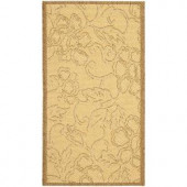 Safavieh Courtyard Natural/Brown 2.6 ft. x 5 ft. Area Rug