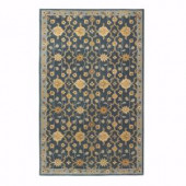 Home Decorators Collection Exeter Blue 8 ft. x 11 ft. Area Rug