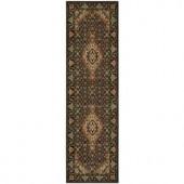 Nourison Persian Arts Parthian Black 2 ft. 3 in. x 8 ft. Runner